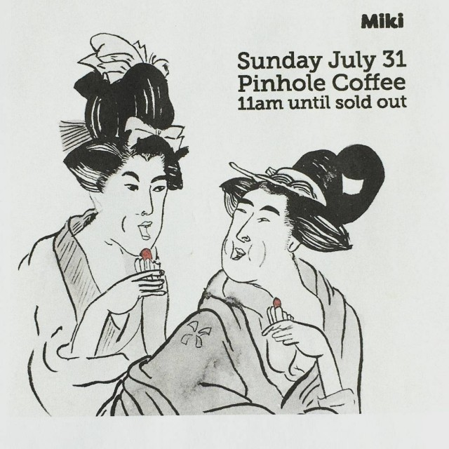 Mikiko will be at pinholecoffee this Sunday slinging canals startinghellip