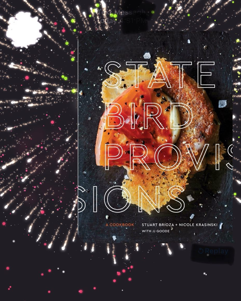 Were so excited for October! State Bird Provisions cookbook hitshellip